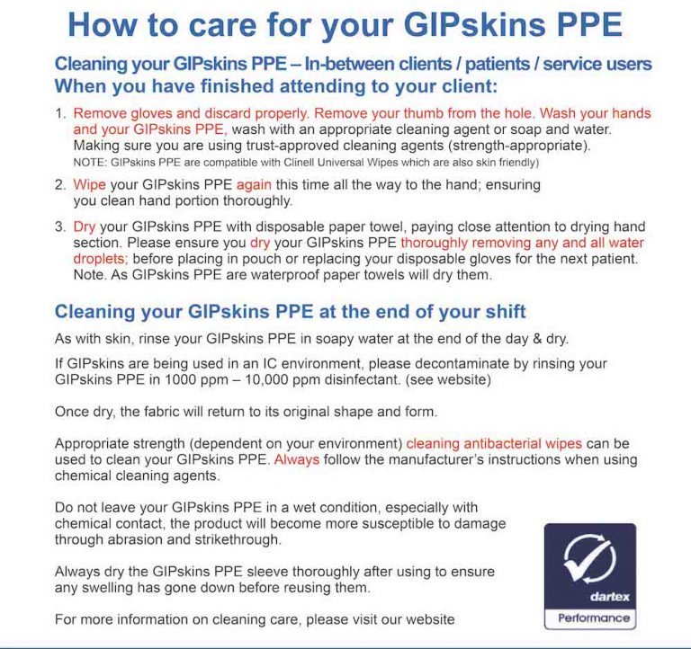GIP Skin Cleaning Care Flyer